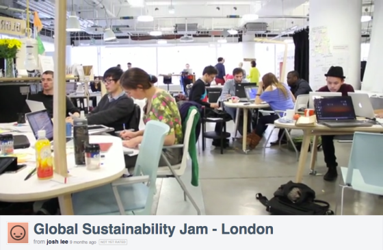London Sustainability Jam by Josh Lee